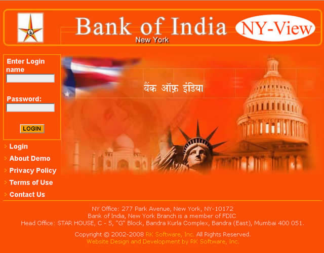Bank of India Implements RKSI's Online Reporting Solutions