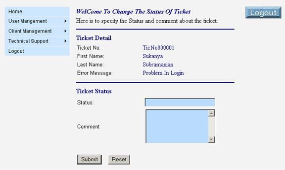Ticket Status
